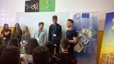"""Welcome session in """"Gheorghe Lazăr"""" High School from Pecica, Romania"""